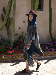Felted Oversized Poncho | Charcoal & Black - Banjo & Matilda | International  - 4