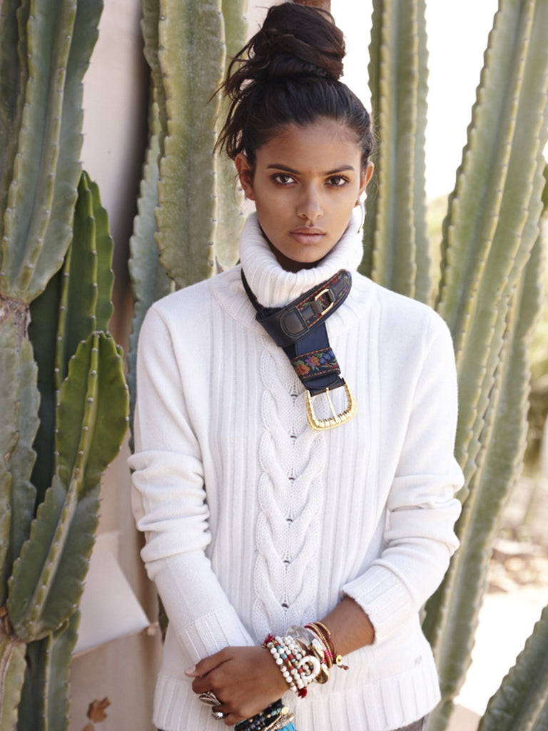 Speakeasy Cable Sweater | Ivory - Banjo & Matilda | International  - 5
