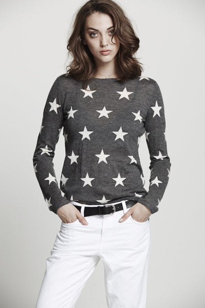 Star Crew | Charcoal & Ivory