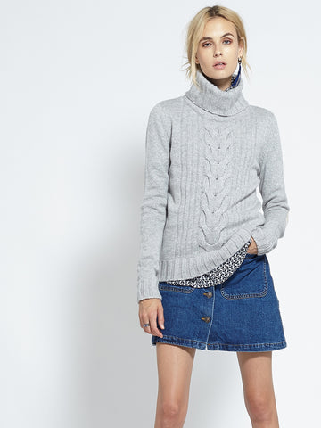 Speakeasy Cable Sweater | Heather Grey - Banjo & Matilda | International  - 1
