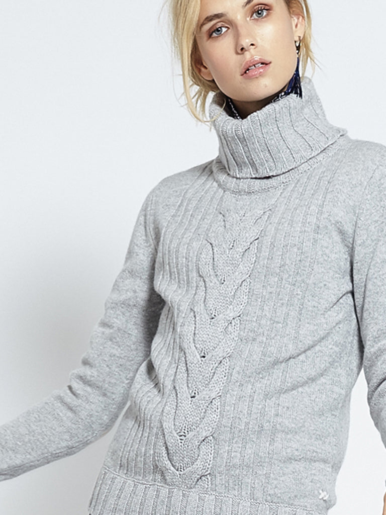EXCLUSIVE PRE-ORDER Speakeasy Cable Sweater | Grey - Banjo & Matilda | International  - 4