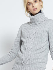 Speakeasy Cable Sweater | Heather Grey - Banjo & Matilda | International  - 4