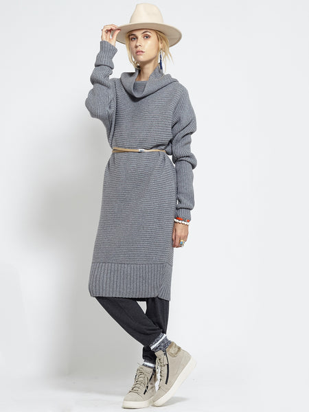 Horizontal Rib Tunic | Grey