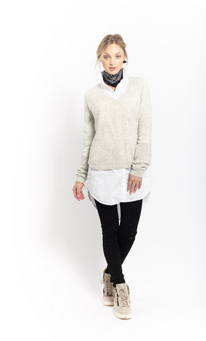 Caresse Raglan Vee | Grey - Banjo & Matilda | International  - 5