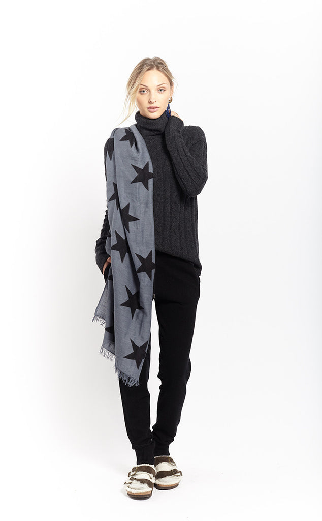 Star Scarf | Grey + Black - Banjo & Matilda | International  - 3