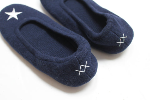 Star Slippers | Navy + Ivory - Banjo & Matilda | International  - 3