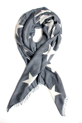 Star Scarf | Grey & Ivory - Banjo & Matilda | International  - 1