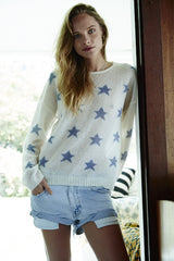 Fluffy Oversized Star Crew | Ivory & Sky - Banjo & Matilda | International  - 1