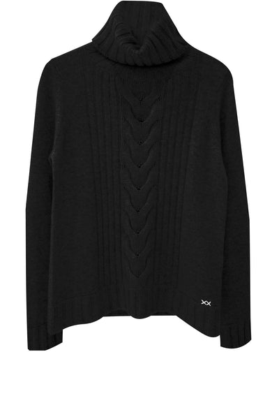 Speakeasy Cable Sweater | Black