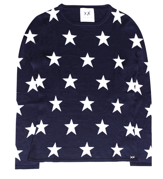 PRE-ORDER Star Crew | Navy & Ivory