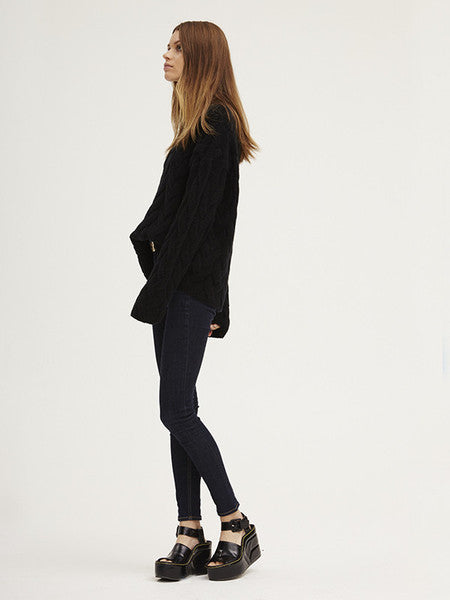 Blended Plait Cable Sweater | Black - Banjo & Matilda | International  - 7