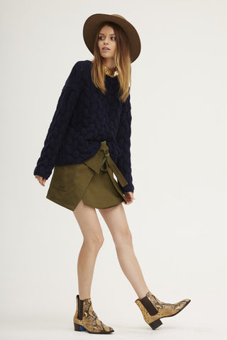 Plait Cable Sweater | Navy - Banjo & Matilda | International  - 13