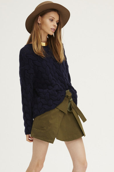Plait Cable Sweater | Navy - Banjo & Matilda | International  - 12
