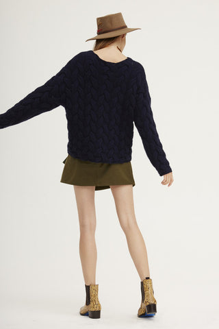 Plait Cable Sweater | Navy - Banjo & Matilda | International  - 9