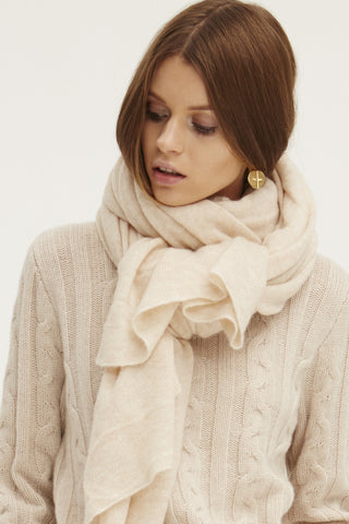 Caresse Wrap Scarf | Chamois - Banjo & Matilda | International  - 1