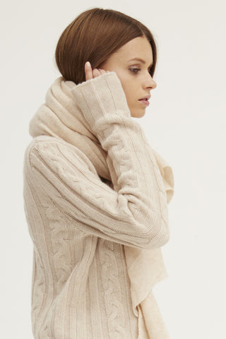 Caresse Wrap Scarf | Chamois - Banjo & Matilda | International  - 4
