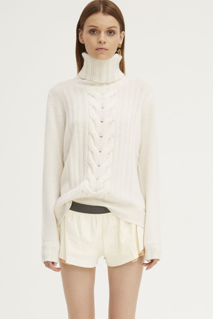 Speakeasy Cable Sweater | Ivory - Banjo & Matilda | International  - 4