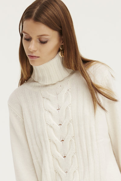 Speakeasy Cable Sweater | Ivory