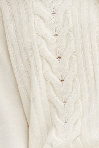 Speakeasy Cable Sweater | Ivory - Banjo & Matilda | International  - 3