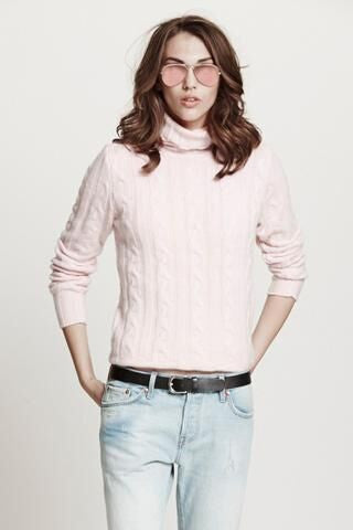 Surfer Cable Sweater | Baby Pink