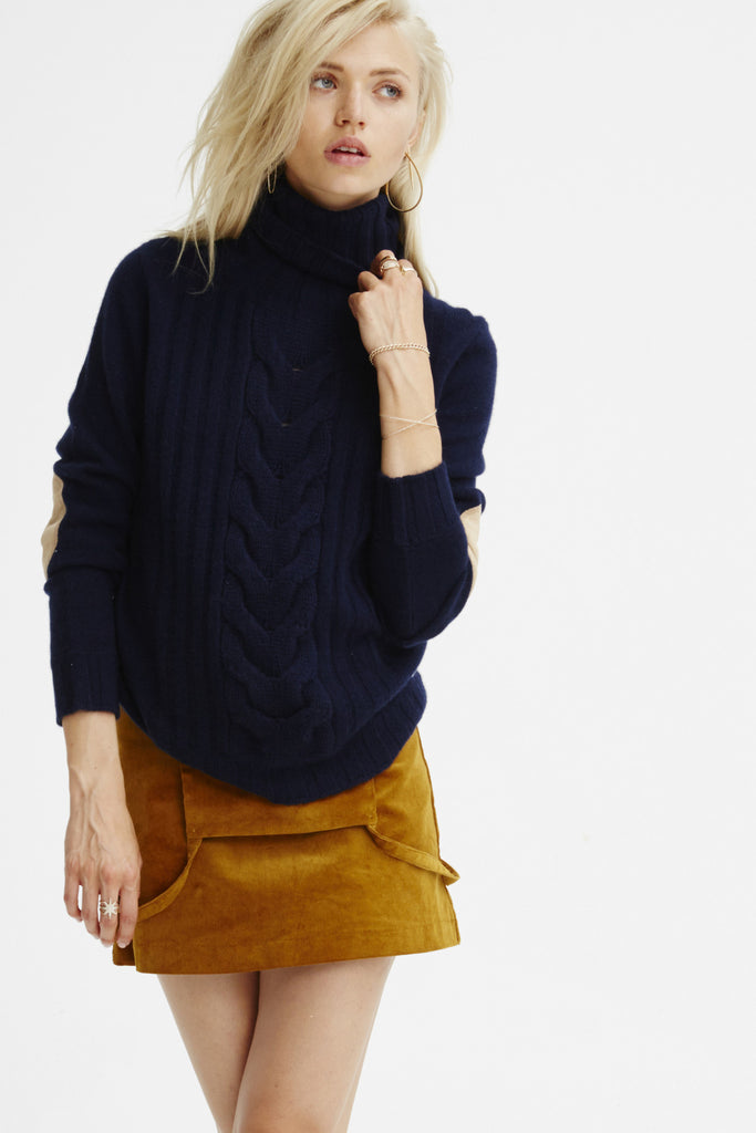 Speakeasy Cable Sweater | Navy - Banjo & Matilda | International  - 3