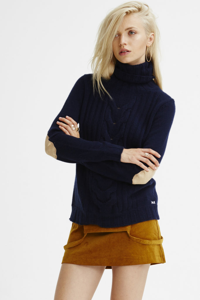 Speakeasy Cable Sweater | Navy - Banjo & Matilda | International  - 1