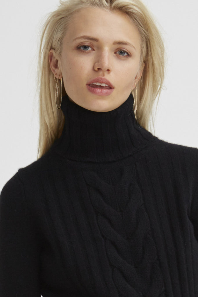 Speakeasy Cable Sweater | Black - Banjo & Matilda | International  - 1