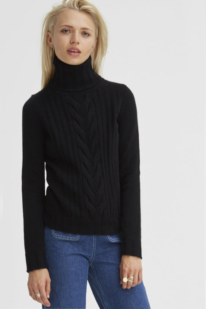 Speakeasy Cable Sweater | Black - Banjo & Matilda | International  - 4