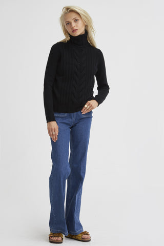 Speakeasy Cable Sweater | Black - Banjo & Matilda | International  - 5