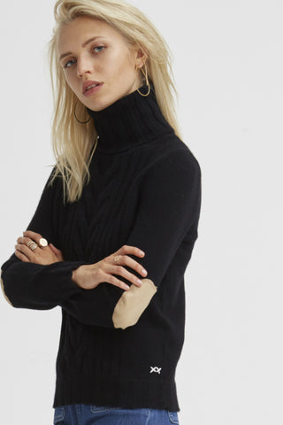 Speakeasy Cable Sweater | Black - Banjo & Matilda | International  - 2