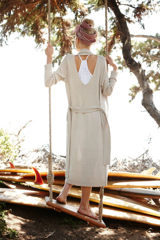 Teak Backless Cardi | Sand - Banjo & Matilda | International  - 1