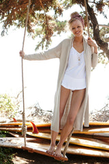 Teak Backless Cardi | Sand - Banjo & Matilda | International  - 2