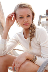Surfer Crew Neck Sweater | Ivory - Banjo & Matilda | International  - 3
