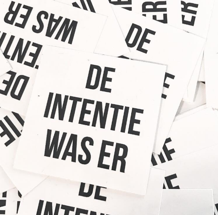 Sticker - intentie