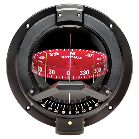 Ritchie BN-202 Navigator Compass - Bulkhead Mount - Black - Reel Draggin' Tackle