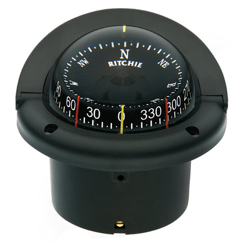 Ritchie HF-743 Helmsman Combidial Compass - Flush Mount - Black - Reel Draggin' Tackle
