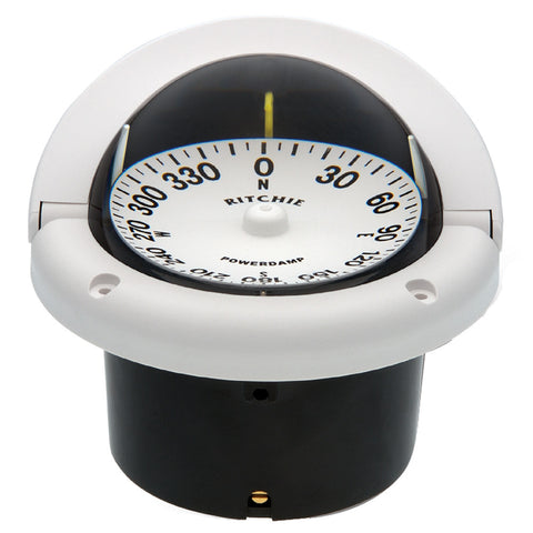 Ritchie HF-742W Helmsman Compass - Flush Mount - White - Reel Draggin' Tackle