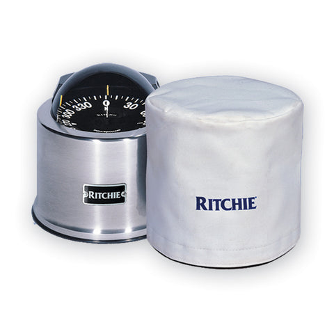 "Ritchie GM-5-C GlobeMaster 5"" Binnacle Cover - White - Reel Draggin' Tackle"