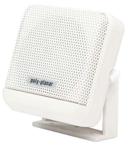 PolyPlanar VHF Extension Speaker -10W Surface Mount - (Single) White - Reel Draggin' Tackle