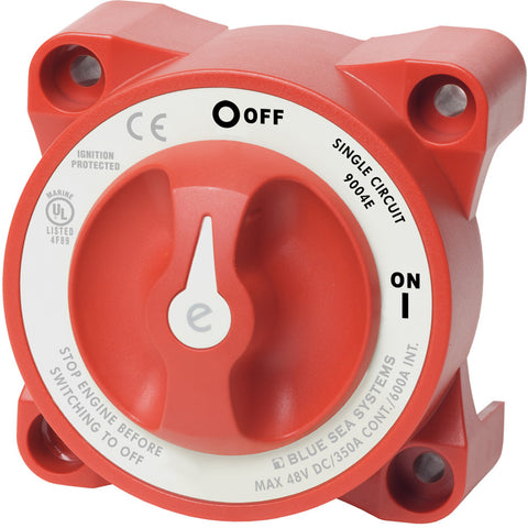 Blue Sea 9004e e-Series Battery Switch Single Circuit ON/OFF w/Alternator Field Disconnect - Reel Draggin' Tackle