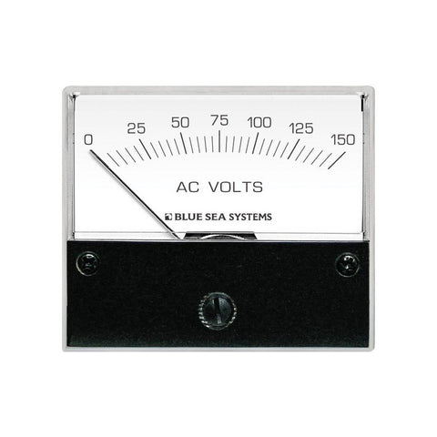 Blue Sea 9353 AC Analog Voltmeter 0-150 Volts AC - Reel Draggin' Tackle
