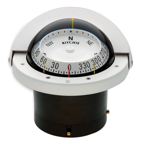 Ritchie FNW-203 Navigator Compass - Flush Mount - White - Reel Draggin' Tackle