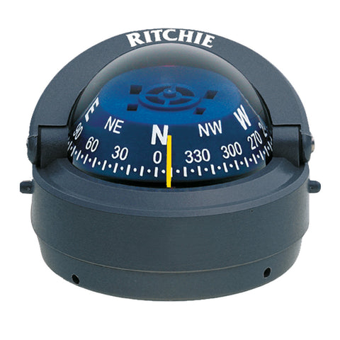 Ritchie S-53G Explorer Compass - Surface Mount - Gray - Reel Draggin' Tackle