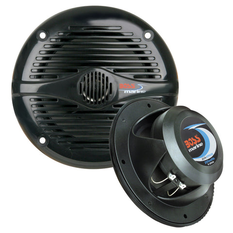 "Boss Audio MR50B 5.25"" Round Marine Speakers - (Pair) Black - Reel Draggin' Tackle"