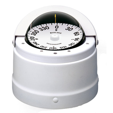 Ritchie DNW-200 Navigator Compass - Binnacle Mount - White - Reel Draggin' Tackle