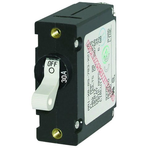 Blue Sea 7222 AC / DC Single Pole Magnetic World Circuit Breaker  -  30 Amp - Reel Draggin' Tackle