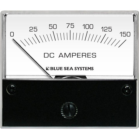 "Blue Sea 8018 DC Analog Ammeter - 2-3/4"" Face, 0-150 Amperes DC - Reel Draggin' Tackle"