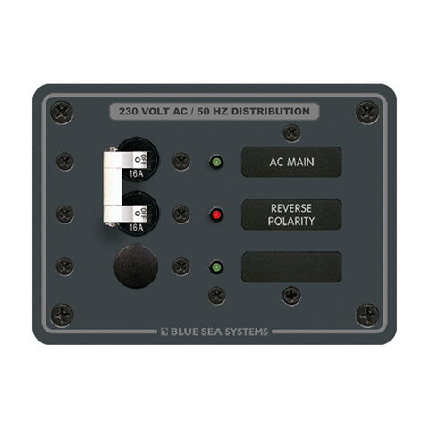 Blue Sea 8129 AC Main + Branch A-Series Toggle Circuit Breaker Panel (230V) - Main + 1 Position - Reel Draggin' Tackle