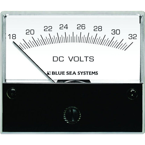 "Blue Sea 8240 DC Analog Voltmeter - 2-3/4"" Face, 18-32 Volts DC - Reel Draggin' Tackle"