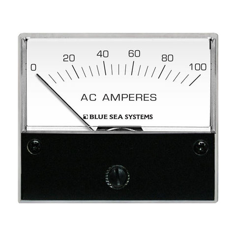 "Blue Sea 8258 AC Analog Ammeter - 2-3/4"" Face, 0-100 Amperes AC - Reel Draggin' Tackle"